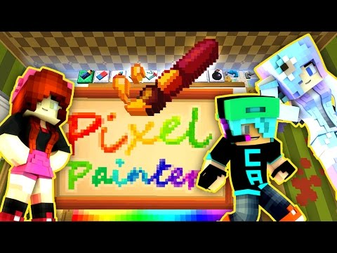 Pixel Painters with Chad & Cookie Swirl C - Hypixel Minigame