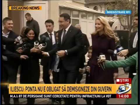 Ion Iliescu: Ponta nu e obligat să demisioneze din Guvern - 17.11.2014 ( HD )