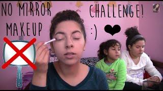 No Mirror Makeup Challenge!(: