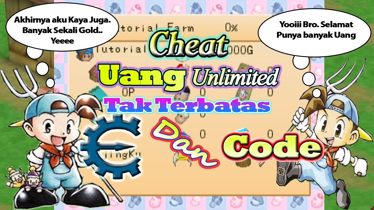 Cheat Uang Unlimited/Tak Terbatas (Cheat Engine+Code) - Harvest Moon Back  To Nature Indonesia
