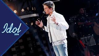 Feliks Parik sjunger Ta mig tillbaka i Idol 2016 - Idol Sverige (TV4)
