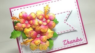 FAST and EASY Paper Flower Tutorial w Heartfelt Creations Tropical Hibiscus