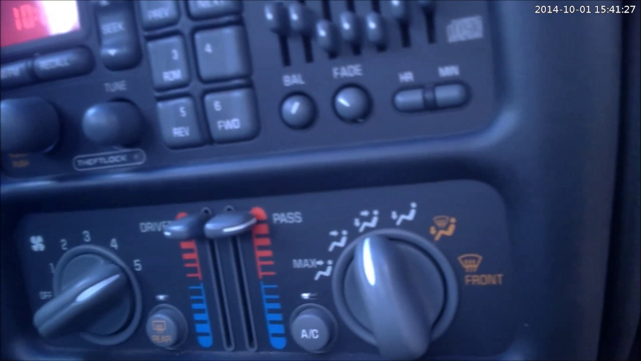 how to fix a 1997 2003 grand prix blower motor [ 1280 x 720 Pixel ]