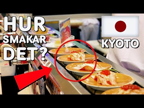 Vi Testar Rullband Sushi i Kyoto!