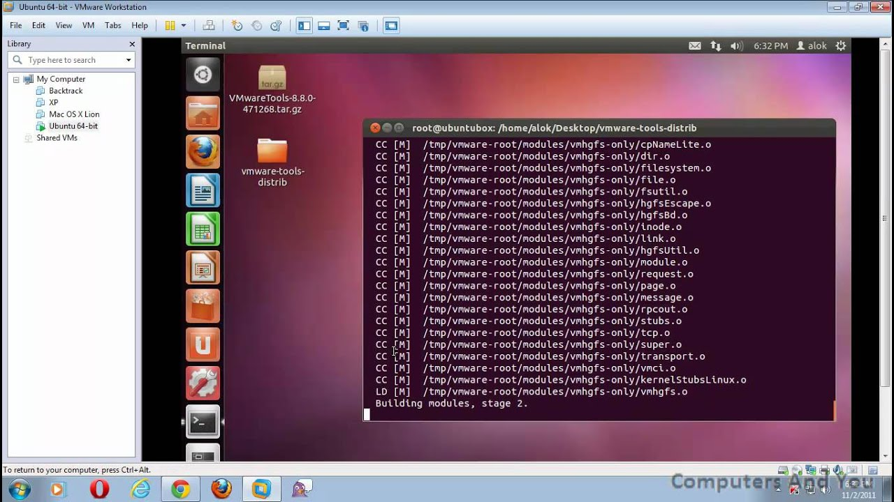 how to install vmware tools in ubuntu