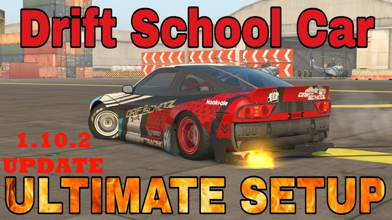 Drift School Car Ultimate Setup + Test Drive! CarX Drift Racing UPDATE!!!  1 10 2