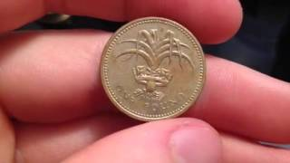 One Pound Coin. Date: 1985