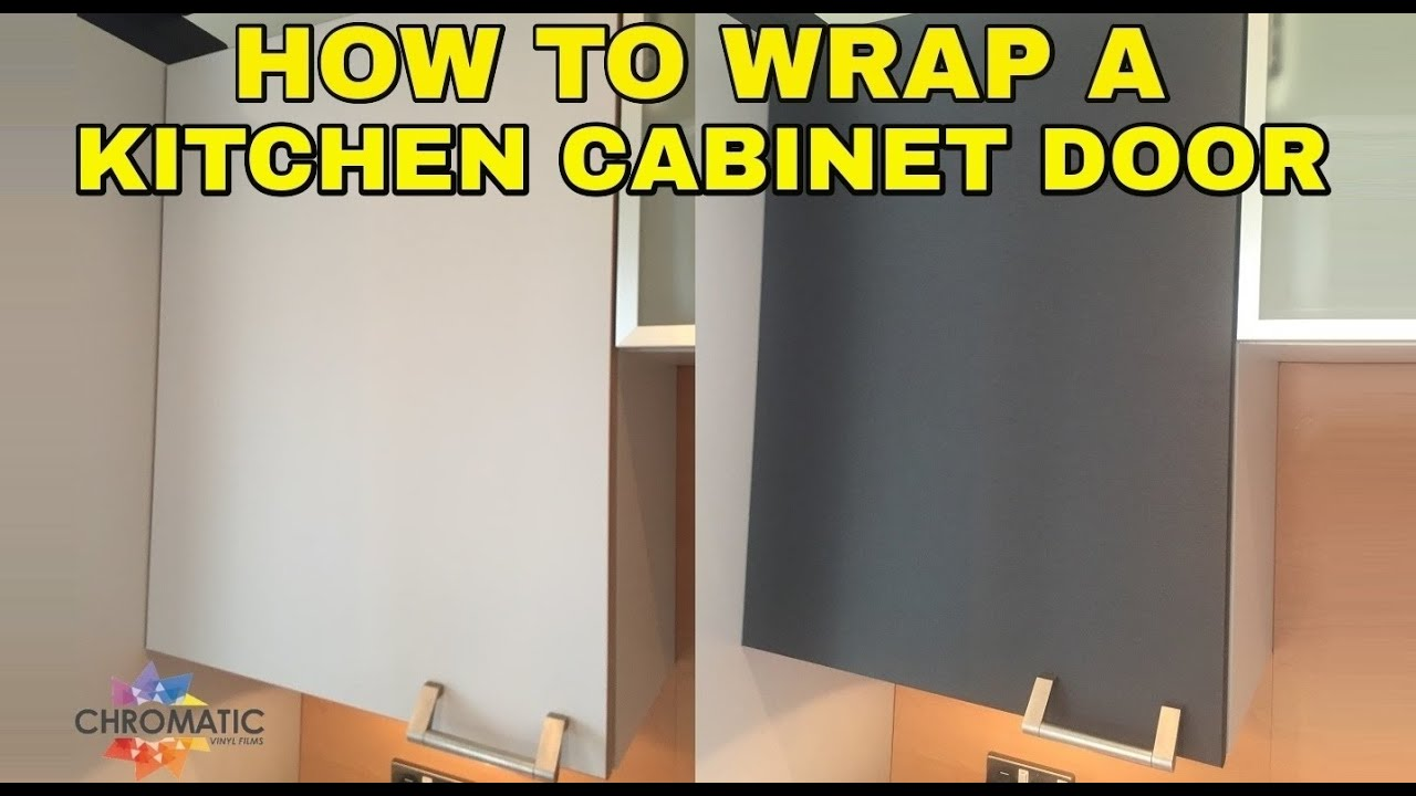 How to Wrap a Kitchen Cabinet Door - DIY Vinyl Wrapping Tutorial for Kitchens u0026 Furniture - YouTube & How to Wrap a Kitchen Cabinet Door - DIY Vinyl Wrapping Tutorial for ...