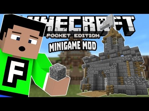 SPEED BUILDERS in MCPE 0.14.0!!! - Modded Minigame Map - Minecraft PE (Pocket Edition)