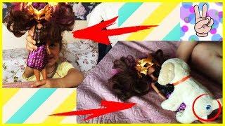 Борьба куклы Монстер Хай и Песика Алекса, Тася играет, Видео для детей, Video for kids, Children