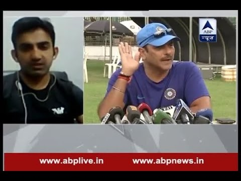 It is Ravi Shastri's desperation whereas Anil Kumble is the best choice, says Gautam Gambhir
