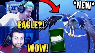 Streamers React to *NEW* Falcon Glider *LEGENDARY* + Bandage Wrap! | Fortnite Highlights
