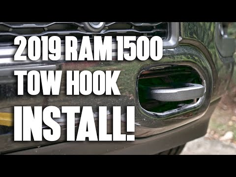 mopar-tow-hook-installation!-2019-ram-1500-5.7l-hemi-truck-(laramie,-limited,-big-horn,-lone-star)