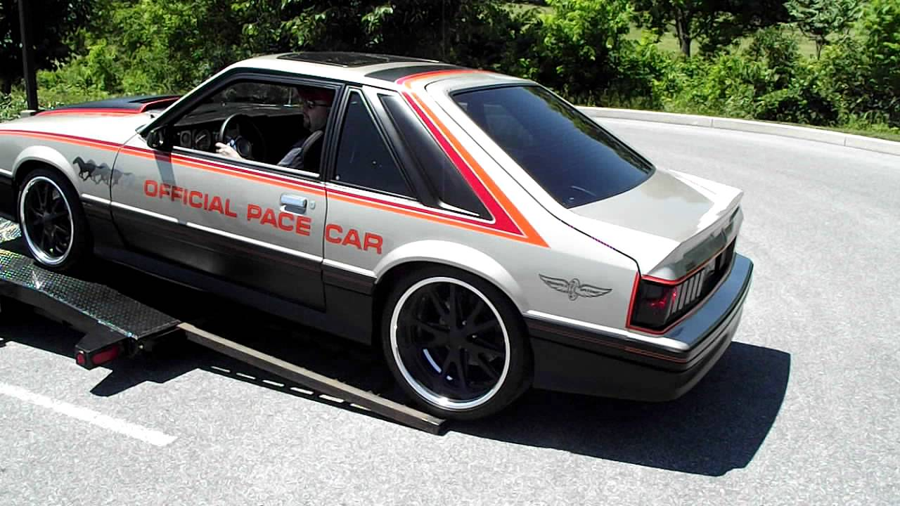 Cl Mustang >> 79 pro touring pace car debut - YouTube