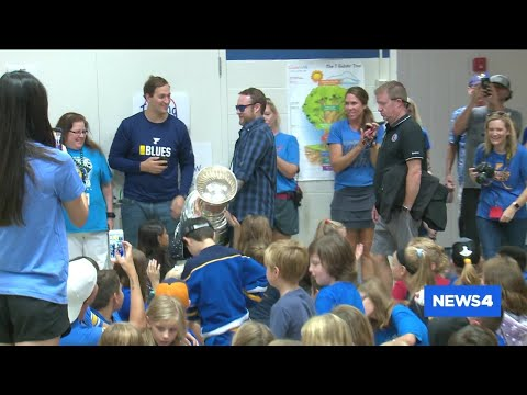 Kids at West County elementary school spend time with Stanley Cup