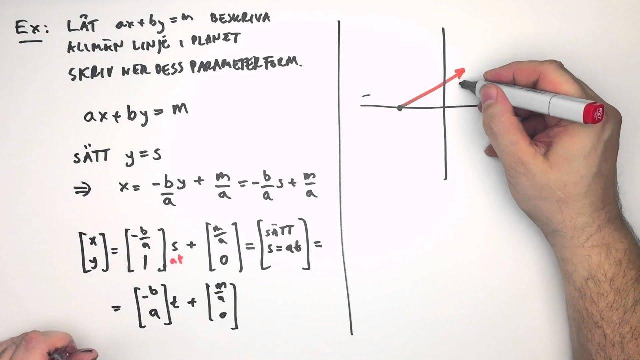 Från linjens ekvation till Linjens Parameterform Up to 4K