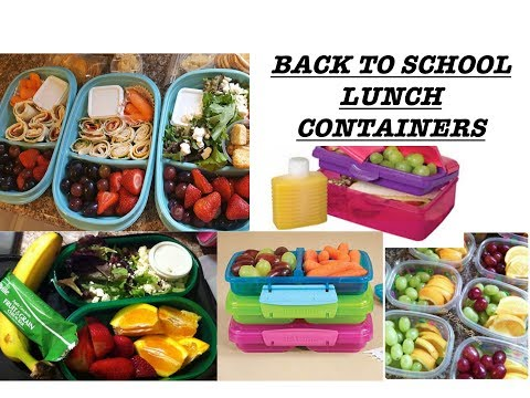 BEST BACK TO SCHOOL LUNCH CONTAINERS 2017!