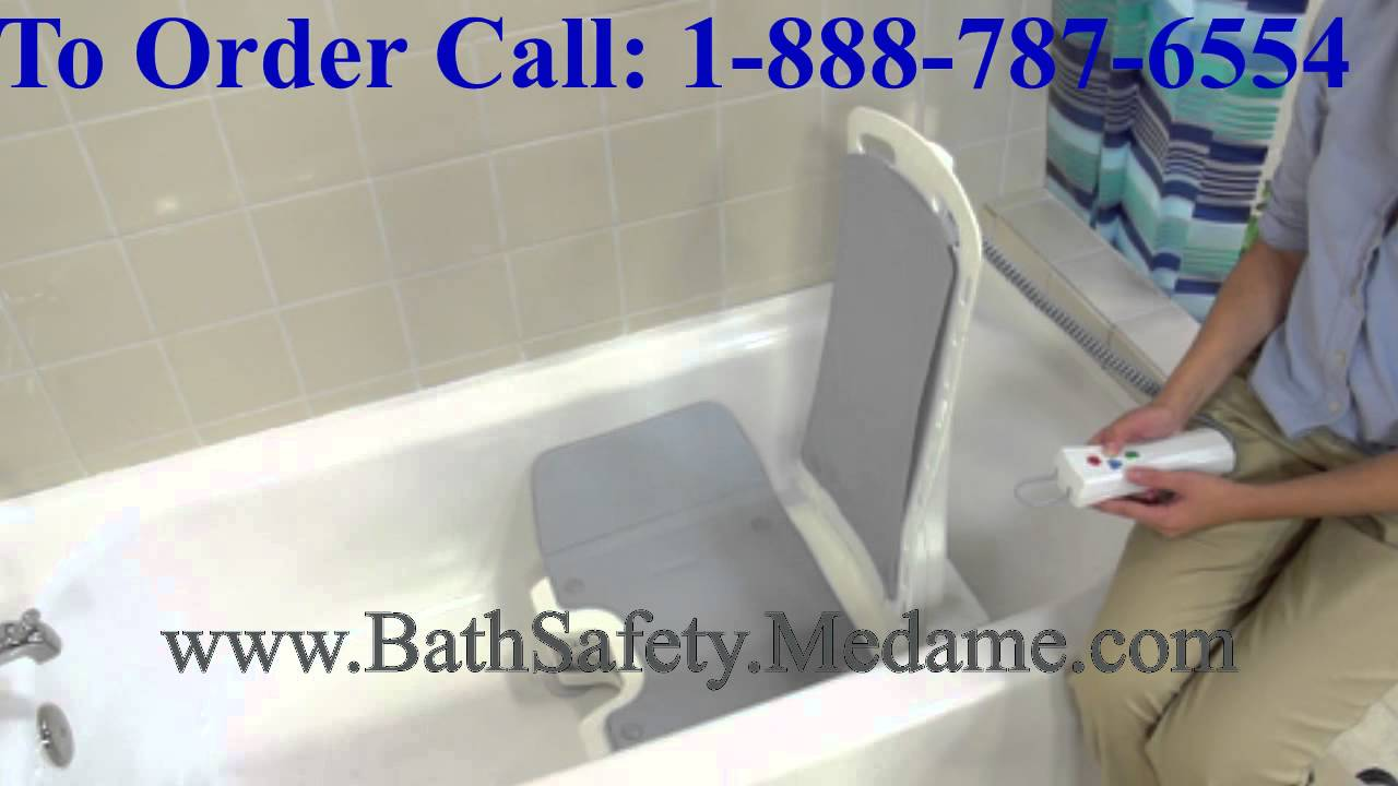 Lightweight, Portable & Reclining Bellavita Bathtub Lift - YouTube