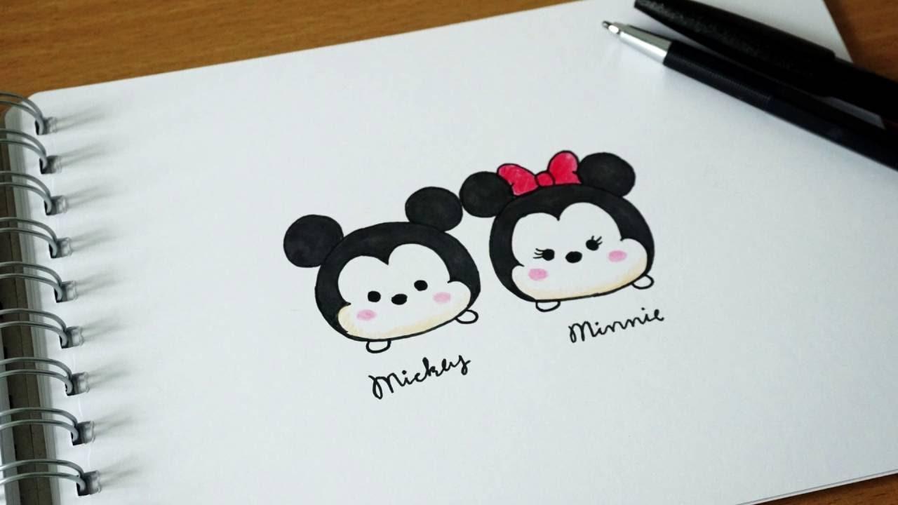 วาดมิกกี้ มินนี่ เวอร์ชั่น Disney Tsum Tsum How To Draw