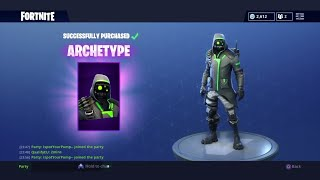 "Fortnite: How To Get ""ARCHETYPE"" Skin For FREE (Fortnite Daily Item Shop August 5th) NEW SKIN!"