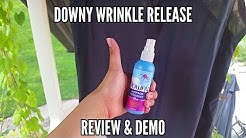 Downy wrinkle release review and demo.