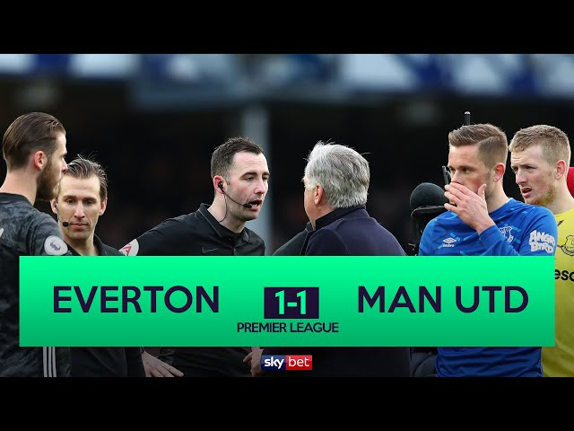 Everton 1-1 Manchester United | VAR Disallows Late Everton Winner With Carlo Ancelloti SENT OFF!