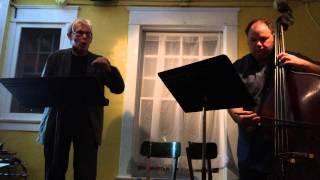Jaap Blonk and Damon Smith performing Hugo Ball. Thursday November 20 2014.