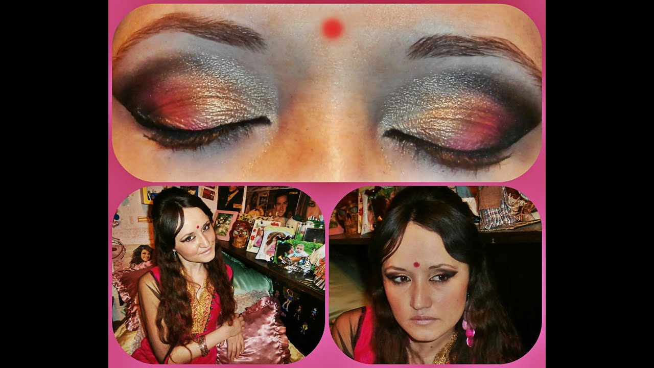 indian makeup / indian costume for halloween - youtube