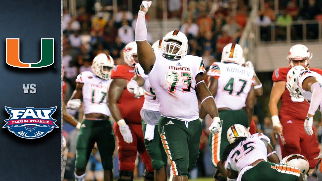 Miami vs florida atlantic 2015 acc football highlights youtube voltagebd Choice Image