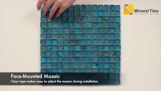 Iridescent Pool Glass Tile Pale Blue 1x1 - 120KELUEX21130