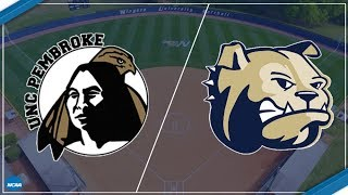 2018 NCAA Division II Softball - UNC Pembroke at Wingate (Game 1)
