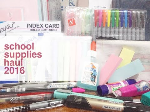 COLLECTIVE BACK2SCHOOL SCHOOL SUPPLIES HAUL | National Bookstore, SM Department Store, Eyecandy +++