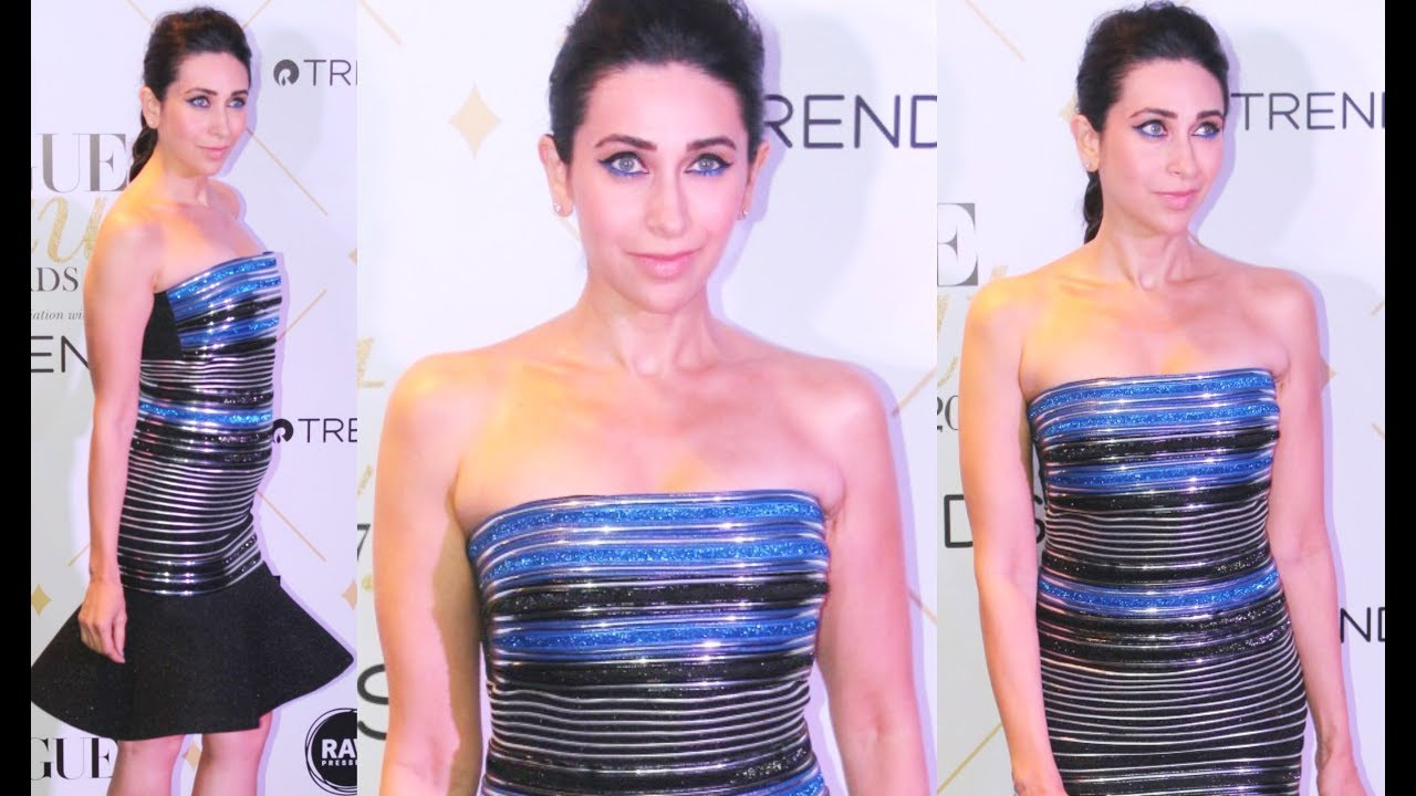 Karishma Kapoor Hot In Strapless Dress At Vogue Beauty -8742