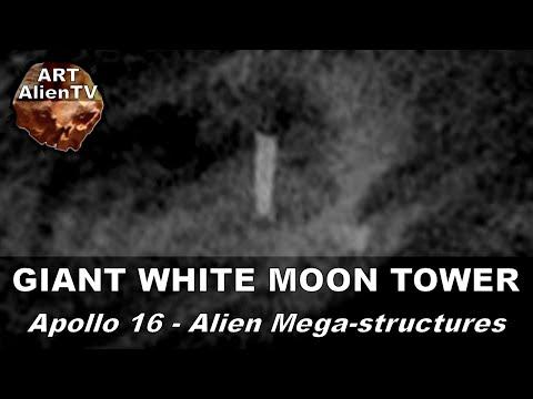 GIANT WHITE MOON TOWER - Apollo 16 Pillar - Alien Mega-structures. ArtAlienTV