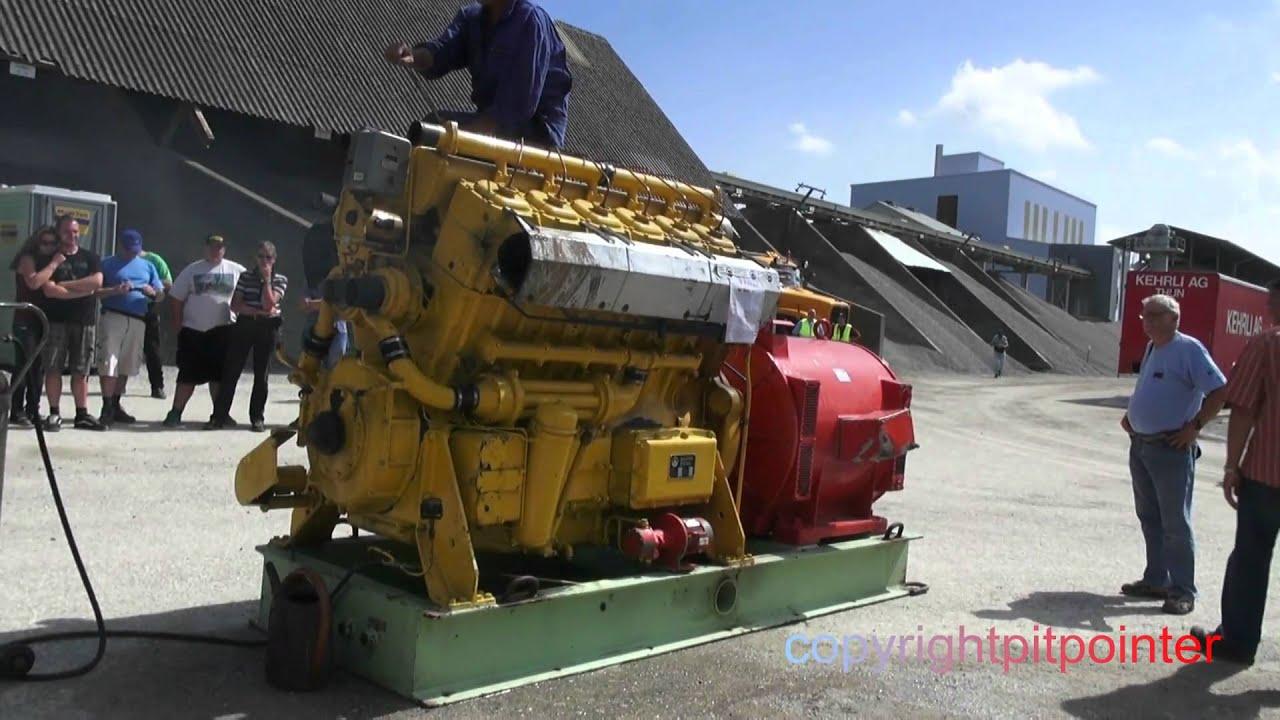 Saurer Diesel Engine V12 2500 Hp Hear The Power Behind The