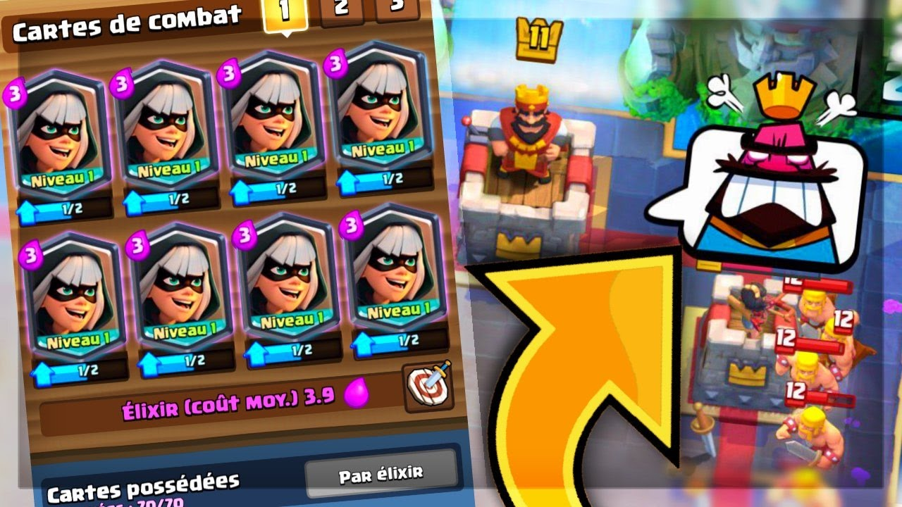Clash royale deck voleuse qui fait rager x1000 tes for Clash royale deck arc x