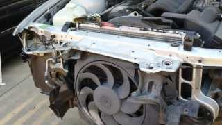 BMW E36 M3 Radiator Upper Support Auxiliary Fan Removal 325 328(This video will show you how to remove the front radiator support bar from a 98 bmw M3 e36 model. This is a second video of a two part series. First video ..., 2013-09-06T03:05:48.000Z)