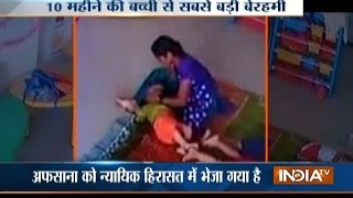 Video: Lady Caretaker Brutally Tortures 10-month Old Baby In Purva Play School