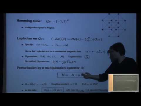 Spectral Properties of the Quantum Random Energy Model - Simone Warzel