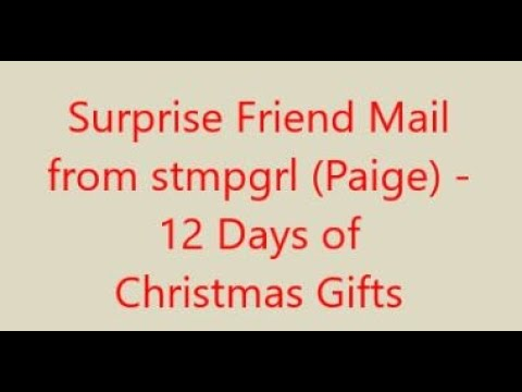12 Days Of Christmas Gifts From Stmpgrl - Days 7, 8 And 9 (V1252)