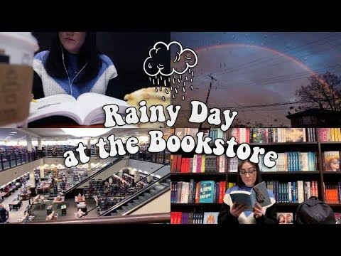 RAINY DAY AT THE BOOKSTORE L Vlog.