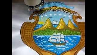 Bordado del escudo de Costa Rica