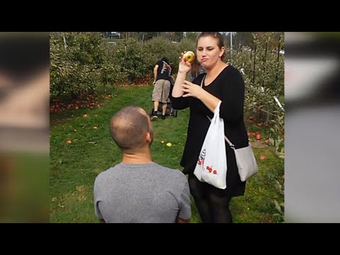 Thumbnail: Woman Thinks Boyfriend's Apple Orchard Proposal is a Joke: 'Are You Lying?