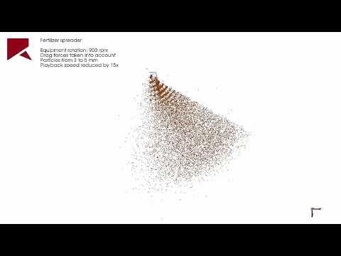 Rocky DEM을 이용한 Fertilizer Spreader Machine 해석 사례