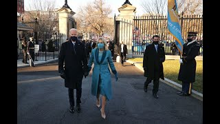 President Biden arrives at the White House for the first time