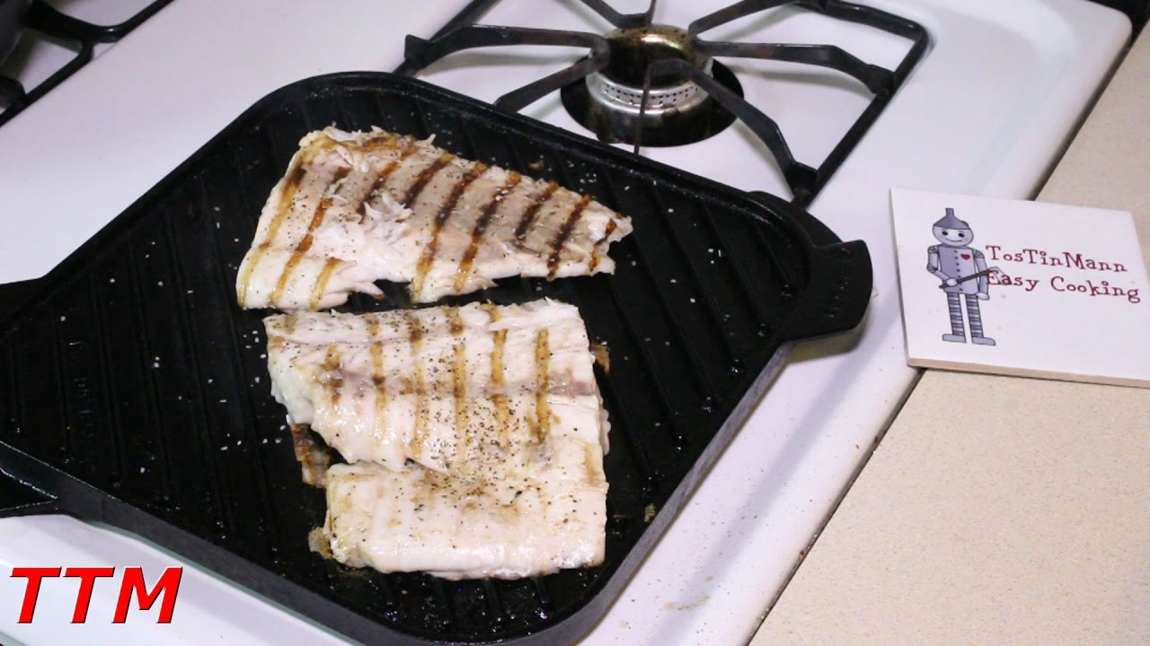 How to cook fish fillets on the stovetop cast iron grill for How to cook fish fillet