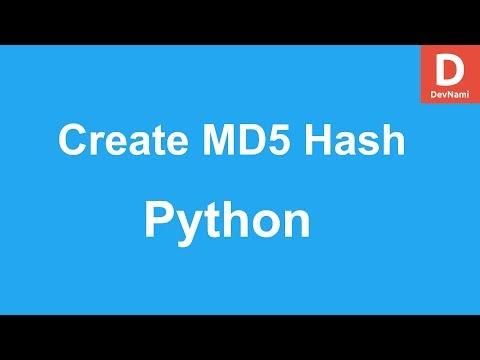 Python 3 Create Md5 Checksum Of String