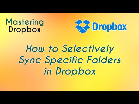 How to Selectively Sync Specific Folders in Dropbox