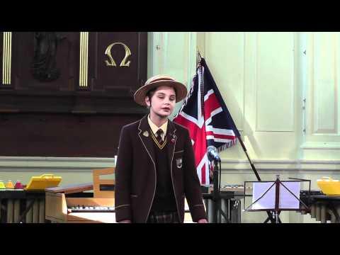 Lorelle Le Grove singing Dalmation Cradle Song
