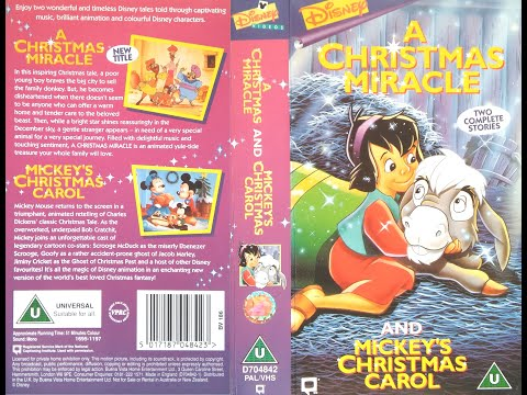 opening of a christmas miracle mickeys christmas carol uk vhs 1997 youtube - Mickeys A Christmas Carol